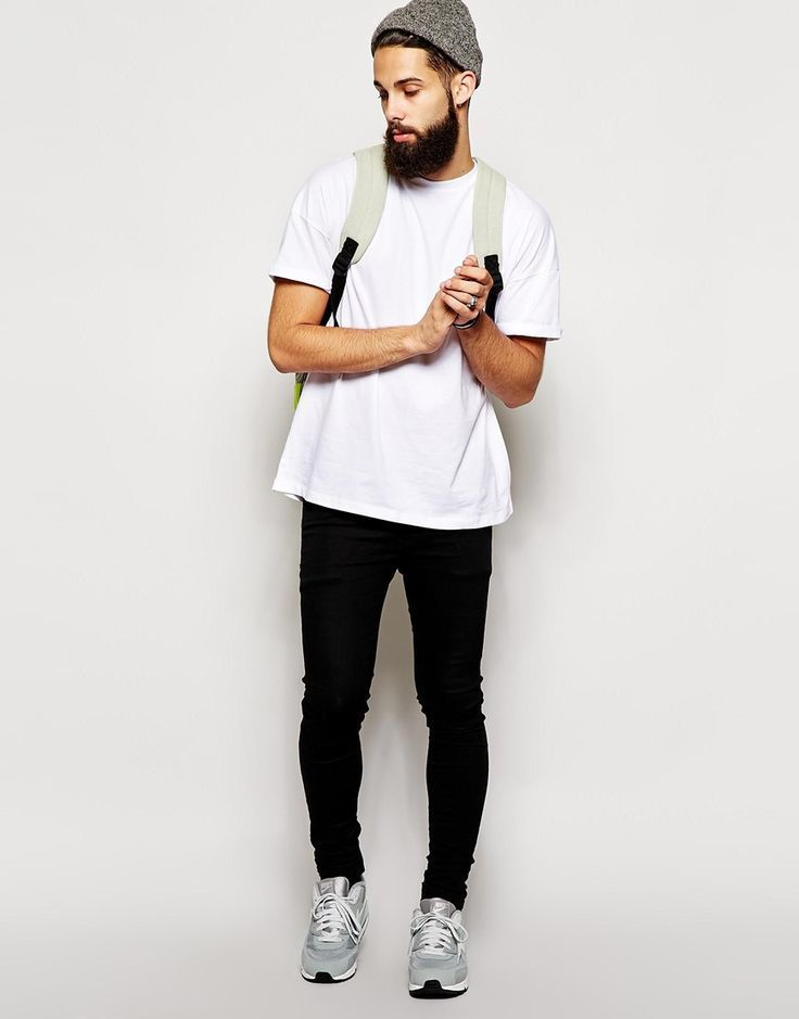 Opt For A White Crew Neck Tee And Black Jeans Refined Yet Off