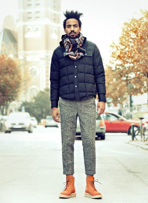 Go For A Clic Style In Navy Quilted Er Jacket And Grey Wool Dress Pants