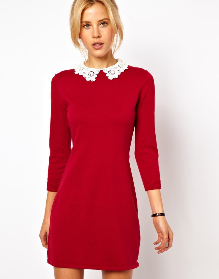Фото платья с кружевным воротником