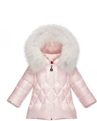 Abrigo acolchado rosado de Moncler