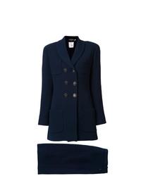 Abrigo azul marino de Chanel Vintage