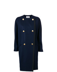 Abrigo azul marino de Gianfranco Ferre Vintage