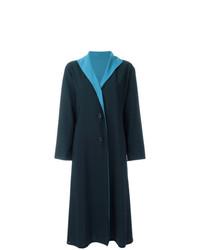 Abrigo azul marino de Issey Miyake Vintage