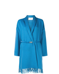 Abrigo azul de Salvatore Ferragamo