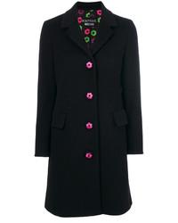 Abrigo bordado negro de Moschino