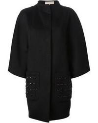 Abrigo con adornos negro de Emilio Pucci