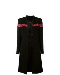 Abrigo con adornos negro de Jean Louis Scherrer Vintage