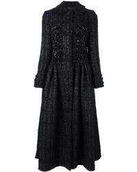 Abrigo con adornos negro de Simone Rocha