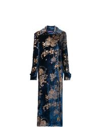 Abrigo con print de flores azul marino de Ralph Lauren