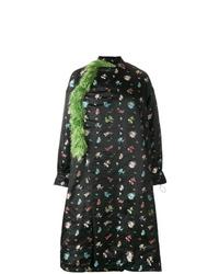 Abrigo con print de flores negro de Preen by Thornton Bregazzi