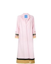 Abrigo con print de flores rosado de Macgraw
