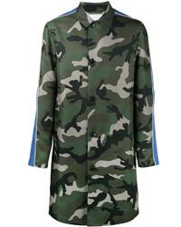 Abrigo de camuflaje verde oliva de Valentino