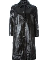 Abrigo de cuero negro de Marc Jacobs