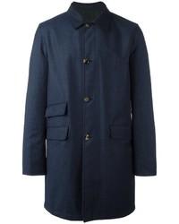 Abrigo de lana azul marino de Kiton