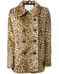 Abrigo de leopardo marrón claro de Denim & Supply Ralph Lauren