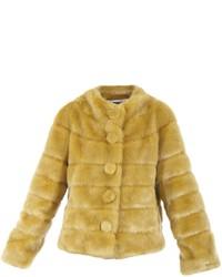 Abrigo de piel amarillo