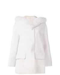 Abrigo de piel blanco de Blancha