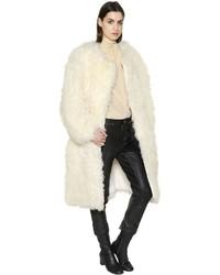 Abrigo de piel blanco de Chloé