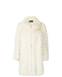 Abrigo de piel blanco de Christian Dior Vintage