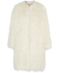 Abrigo de piel blanco de DKNY