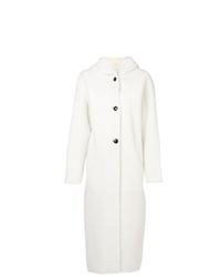 Abrigo de piel blanco de Inès & Marèchal