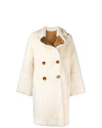 Abrigo de piel blanco de Liska