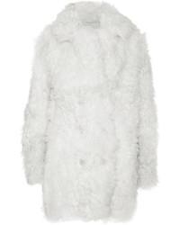 Abrigo de piel blanco de Sonia Rykiel