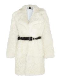 Abrigo de piel blanco de Topshop