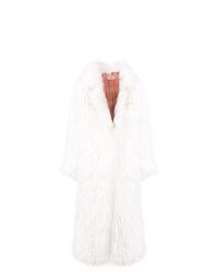 Abrigo de piel blanco de Yves Salomon Meteo