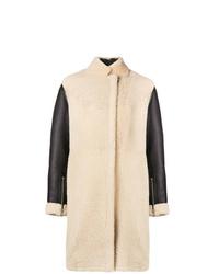 Abrigo de piel de oveja en beige de 3.1 Phillip Lim