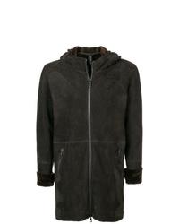 Abrigo de piel de oveja en marrón oscuro de Giorgio Brato