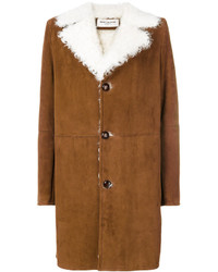 Abrigo de piel de oveja en tabaco de Saint Laurent