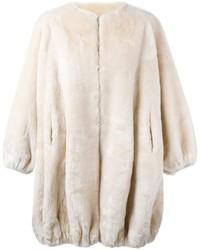 Abrigo de piel en beige de Moschino