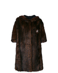 Abrigo de piel en marrón oscuro de Faith Connexion