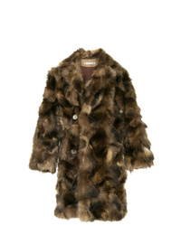 Abrigo de piel en marrón oscuro de SASQUATCHfabrix.