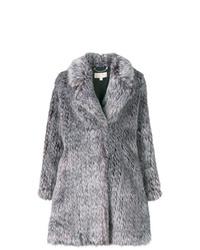 Abrigo de piel gris de MICHAEL Michael Kors