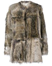 Abrigo de piel marrón de Stella McCartney
