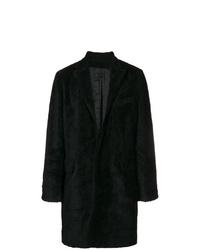 Abrigo de piel negro de RtA