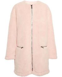 Abrigo de piel rosado