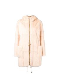 Abrigo de piel rosado de Liska