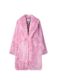Abrigo de piel rosado de MSGM