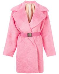 Abrigo de piel rosado de No.21