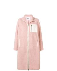 Abrigo de piel rosado de Stand