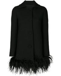 Abrigo de plumas negro de Moschino