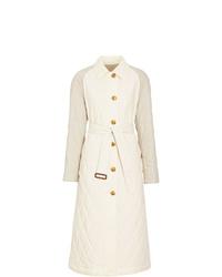 Abrigo de plumón acolchado blanco de Burberry
