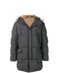 Abrigo de plumón en gris oscuro de Ten C