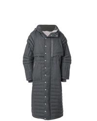 Abrigo de plumón en gris oscuro de Thom Browne