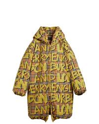 Abrigo de plumón en multicolor de Burberry