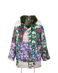 Abrigo de plumón en multicolor de Gosha Rubchinskiy