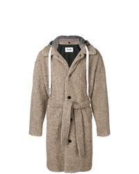 Abrigo de plumón marrón claro de MSGM